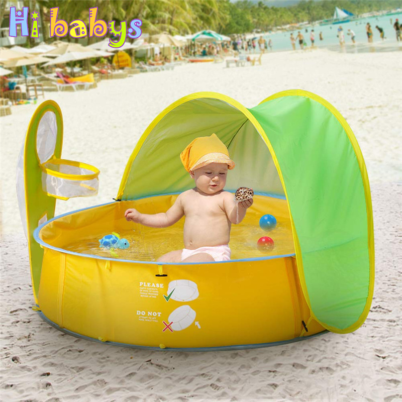 Swimming Pool for Kids Foldable Ball Pool Tent Sunshelter Children Small House Toy Play Water Portable