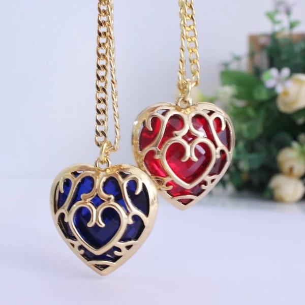 The Legend of zelda Sky Ward Heart Container Metal  pendantif//necklace Anime