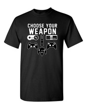 Newest 2017 men's fashion Choose Your Weapon Gaming Console Gamer Funny Adult T-Shirt Tee Men T Shirt Round Collar Tees