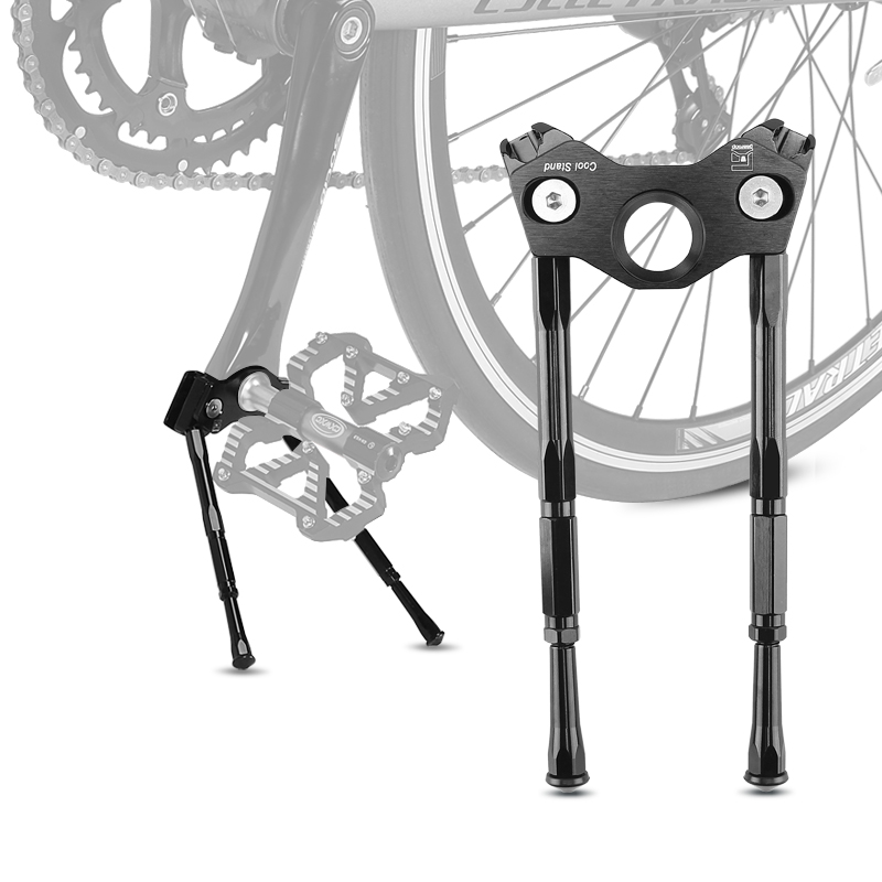 Mountain Road Bike Kickstand Bicycle Kick Stand Alloy Double Legs Bicycle Stand Parking Rack Bike Stand Side Foot Support Legs
