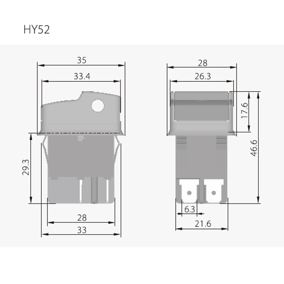 2pcs Kedu Hy52 125 250v Industrial Electric Push Button Switches On Off Switch For Mechanical Appliance Electrical Machine Room