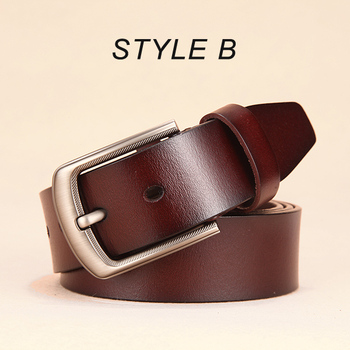 [DWTS]men belt male high quality leather belt men male genuine leather strap luxury pin buckle fancy vintage jeans free shipping 12
