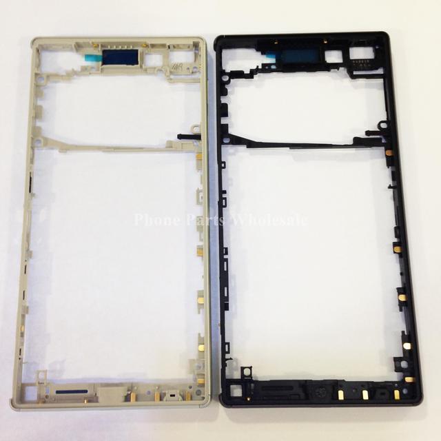 Único sim para sony xperia z5 e6653 e6603 preto/branco oriente chassis quadro habitação moldura da placa traseira tampa da caixa de peças de reposição