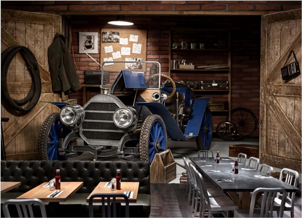 3d wallpaper custom photo mural Vintage car restaurant cafe 3d wall murals wallpaper for walls 3 d living room painting custom photo 3d wall murals wallpaper mountain waterfalls water decor painting picture wallpapers for walls 3 d living room