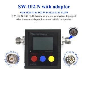 Image 2 - Surecom SW 102 ラジオ testerwith 3 アダプター 125 520 デジタル vhf/uhf パワー & swr 計のために車ラジオと hendheld ラジオ SW102