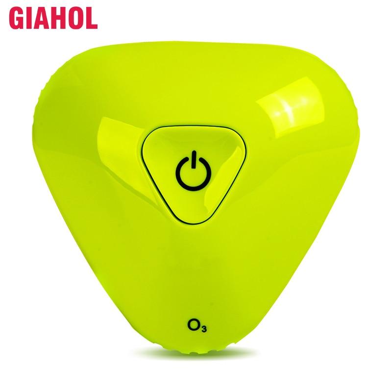 GIAHOL 500mAh USB Aufladbare Mini Tragbare Luft Reiniger Ozon Generator Kleine Filter Kühlschrank Sterilisator Luft Freshner