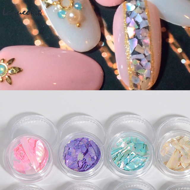12 Colorful Nail Art Decoration 2017 Natural Stained S Crushed Paillettes 3d Acrylic Uv