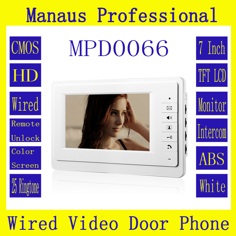 ФОТО D66b Smart Home 7 inch Touch Screen Video Intercom Phone,ABS Engineering Plastics Indoor Monitor Video Doorphone without camera