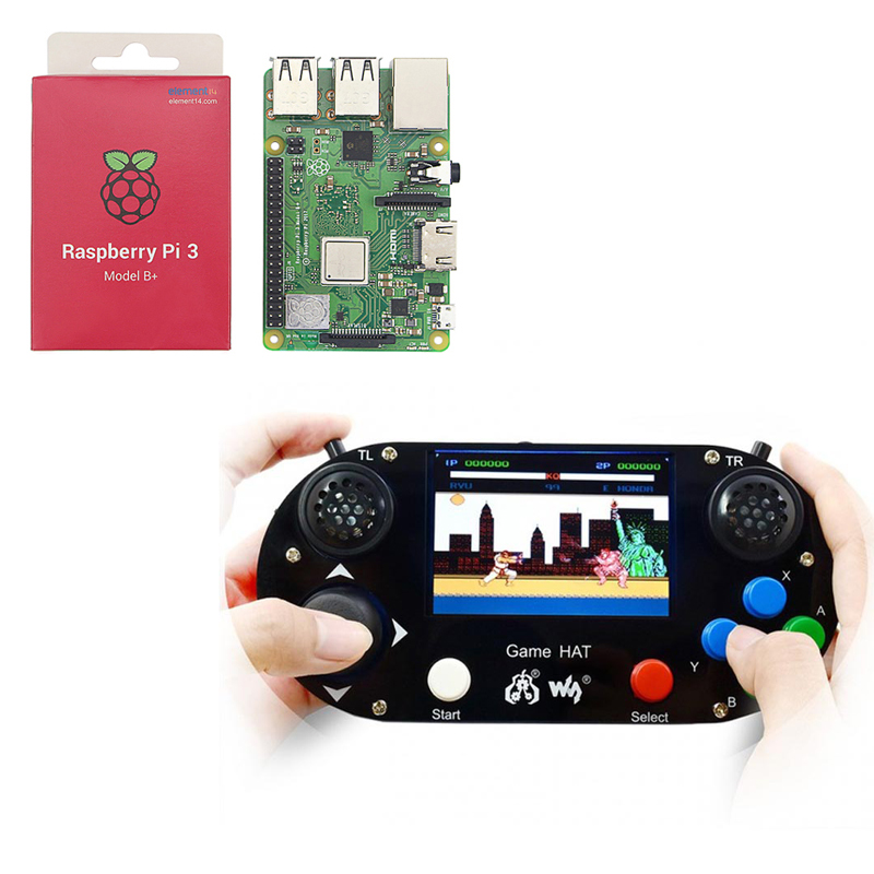 Raspberry Pi 3B+/4B Game HAT LCD 3.5inch HDMI LCD Gamepad On Board Make Your Own Game Console For Raspberry Pi Zero W/WH