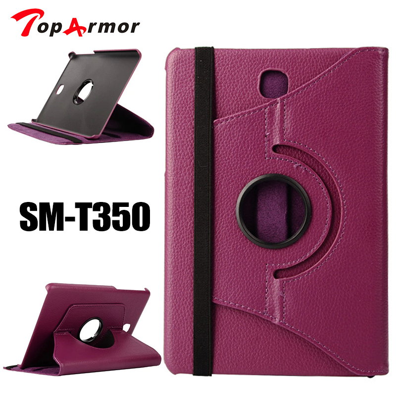 TopArmor 360 Rotating Case Cover For Samsung Galaxy Tab A 8.0 T350 T351/T355/P350/SM-T355 PU Leather Stand Tablet cover