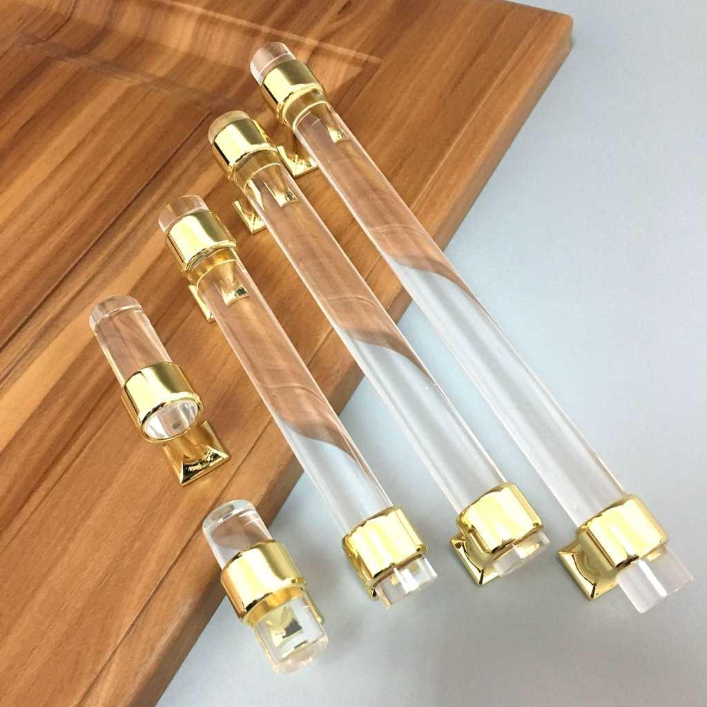 Modern Acrylic Door Pull Knob Drawer Cabinet Cupboard