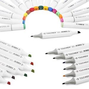 Image 3 - מקצוע אמנות סמני TOUCHNEW מרקר סט 30/40/60/80/168 סט כפול ראשות סמן אמן עבור לצייר מנגה קליגרפיה מברשת עט