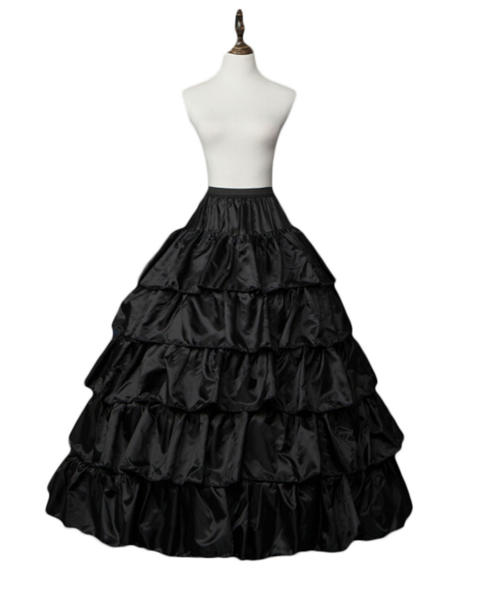 Black Wedding Gowns For Sale: 2016 Hot Sale Puffy Long Petticoat Crinoline Black Wedding