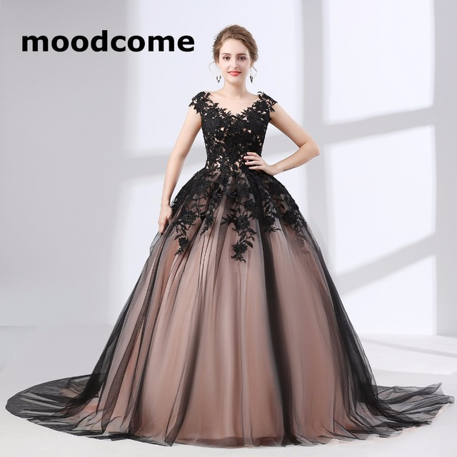 2018 Vintage Cheap Prom Dresses Scoop Tulle Applique Ball Custom