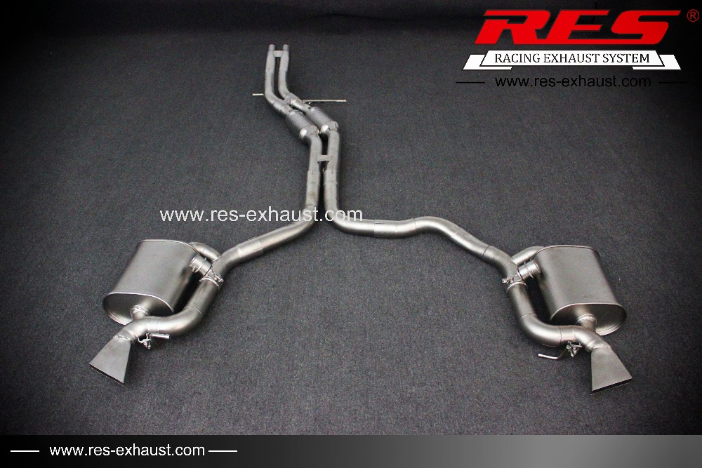 exhaust pipe res racing for new audi a6 3 0t car exhaust system stainless steel exhaust catback valve exhaust