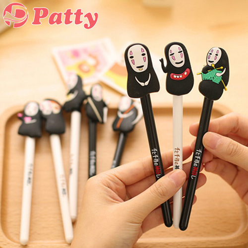 7 pcs/Lot Anime Gel pen cartoon Spirited Away black ink pen canetas material school supplies Gift stationery papelaria F241