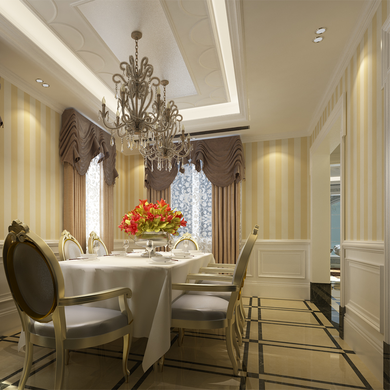 Hanmero modern striped design beige non woven wallpaper for Wall coverings for living room