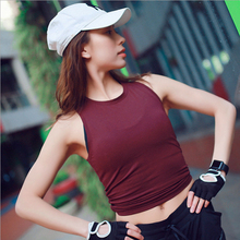 New Women Sleeveless Yoga Shirts Vest Top Running Sport top Quick dry comfortable Wicking Female Gym Tank FH309