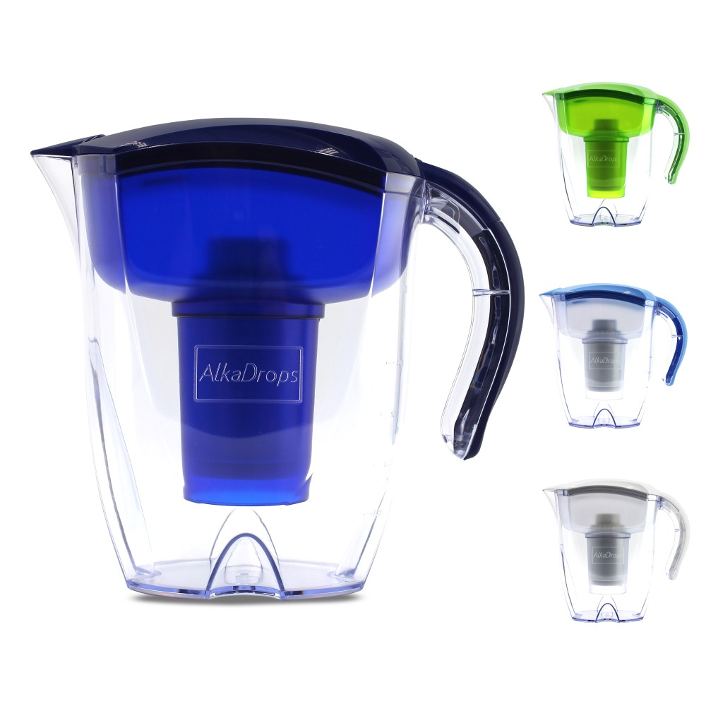 Alkaline Water filter Pitcher -7 Stage Ionizer Filtration System to Purify Increase PH Levels and provides a low negative ORPAlkaline Water filter Pitcher -7 Stage Ionizer Filtration System to Purify Increase PH Levels and provides a low negative ORP