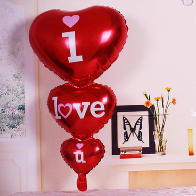 Red Big I Love You Balloons Party Decoration Heart Engagement Anniversary  Weddings Valentine Balloons Marriage Room