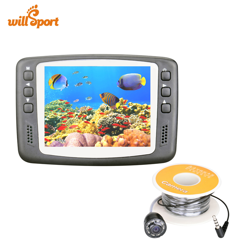 Underwater Fishing and Inspection Camera 3.5 inch LCD Monitor 1000TVL IR Camera Night Vision 15 Meter Cable Rechargeable Battery 7 inch tft lcd monitor built in dvr camera system inspection borescope 1000tvl with 20m cable pipe sewer camera aluminum case