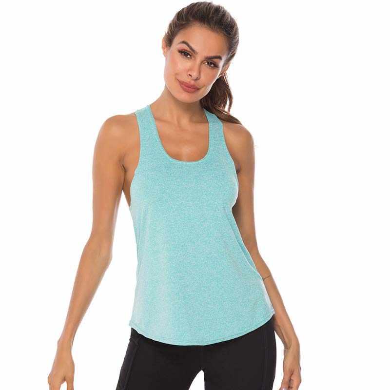 VEQKING بلا أكمام راسيرباك صدرة للجري الرياضة القميص المرأة الرياضية اللياقة البدنية الرياضة تانك القمم رياضة التدريب اليوغا قمصان للجري