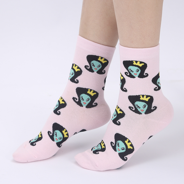 Funny Patterned Cotton Socks