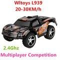 WLtoys L939 Высокая Скорость 2.4 Г мини RC Автомобиль Дрейф 5 Скорости Сдвига Уровня Полномасштабной Рулевого управления по радио off-road электрические игрушки