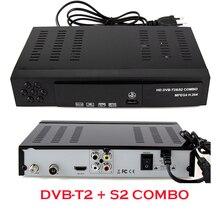 Ruso Europeo Estándar Combo dvb t2 + S2 Receptor de Satélite Digital HD 1080 P dvb-t2 tv Box H.264/MPEG-2/4/F1171 Receptores de Televisión