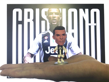 [Newest] Collection Turin Cristiano Ronaldo Dybala Mandzukic model Action Figure Jersey Football star soccer game toy kids gift