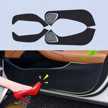 4pcs Car Door Side Edge Anti kick Protection Film Carbon Fiber Sticker For Chevrolet Malibu XL