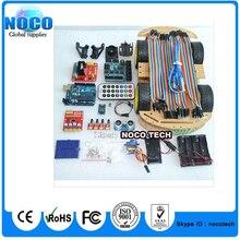 Многофункциональный 4WD Робот Автомобильные Комплекты Датчик Доска Ультразвуковой Модуль ООН R3 MEGA328P Для Arduino Robot Автомобиля Монтажный Комплект