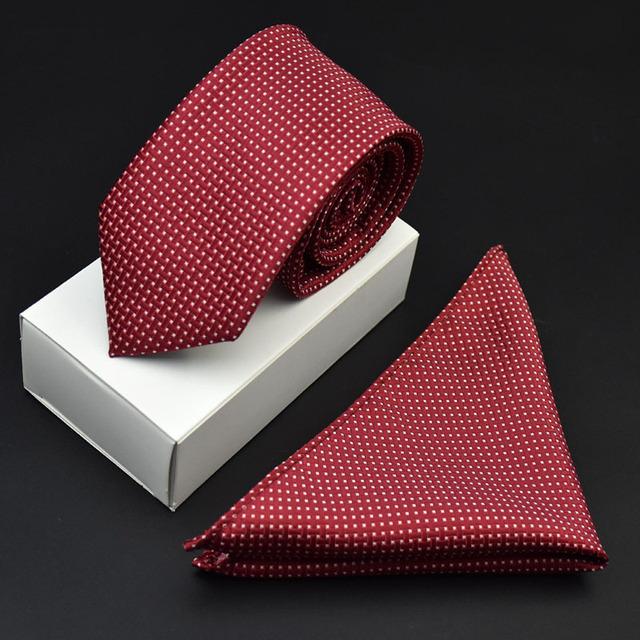 Tejido Jacquard Burdeos Oficina de Negocios Corbata Corbata Corbata Pañuelo Pañuelo Hecho A Mano