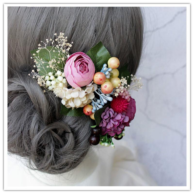 La vita eterna fiore sposa tiara reale di fiori secchi fiori da sposa palco  passerella super fata stile Coreano stellato Copricapi|Accessori per capelli  donna| - AliExpress