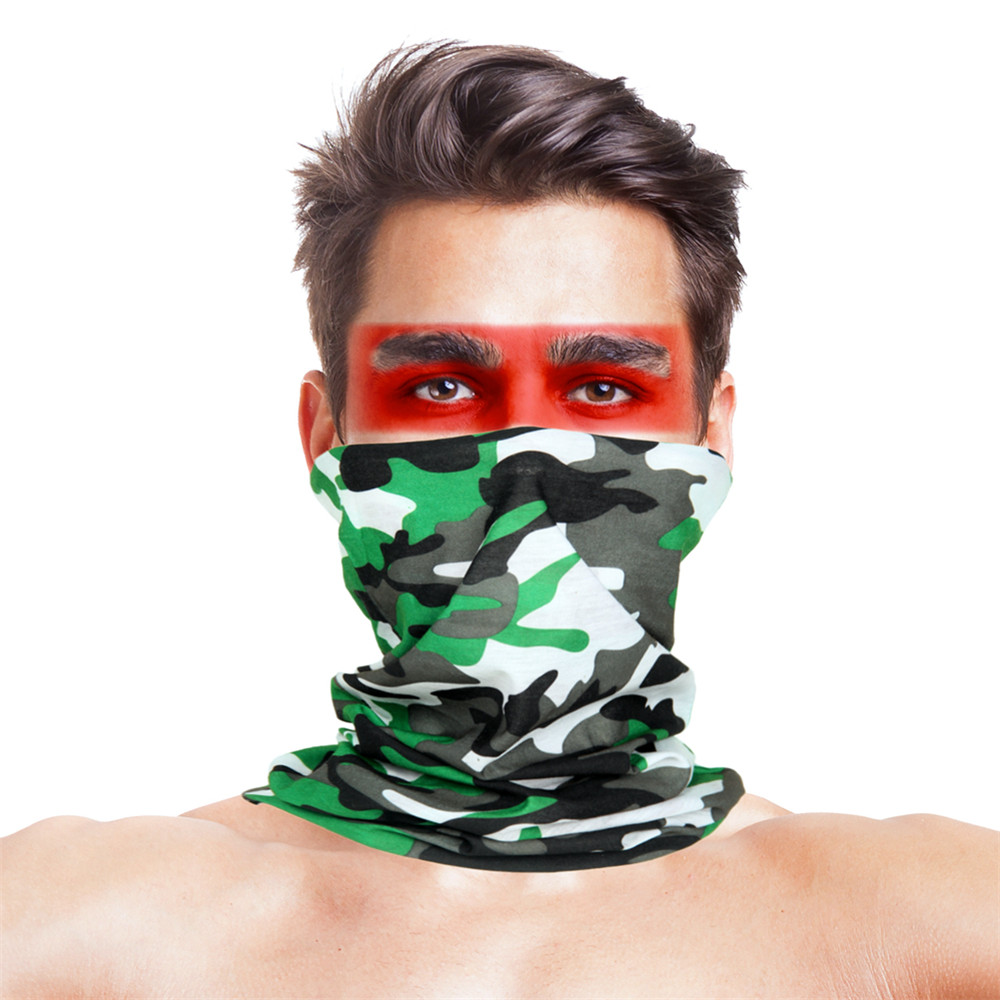 High-Jump Tactical Camouflage Hunting Scarves Polyester Windproof Anti UV Tactical Face Mask Bandana Military Gear Accessories