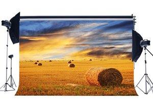 Image 1 - 素朴な農地背景わら干し草背景パウダーヘイベールに小麦フィールド自然秋背景