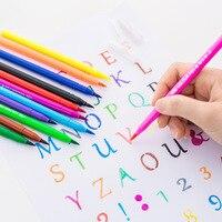 12/18/24 цвета/набор цветной маркер ручка маркер для школы подарок для ребенка проведенными линиями Красочные diy doodle Краски ручки канцелярских ...