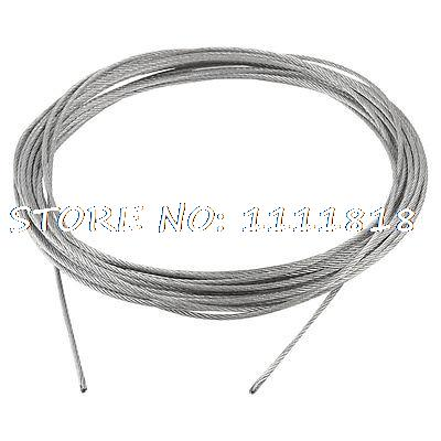 2mm Diameter Flexible Stainless Steel Wire Rope Cable 10m Long цены