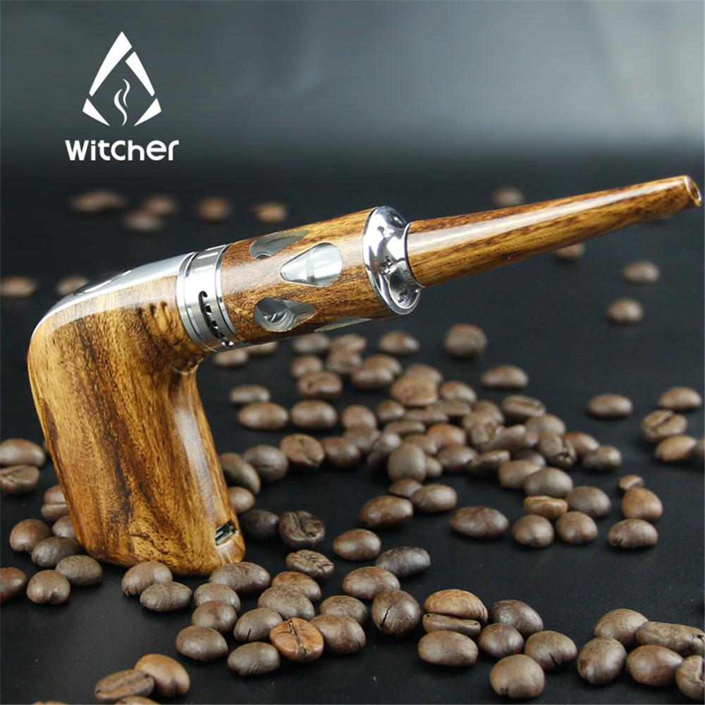 Prix pour Marque Witcher Cigarette Électronique Nouvelle Staline 60 W E-Tuyau Starter kit En Bois Design E tuyau Électronique Narguilé Vaporisateur stylo