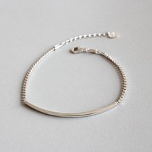 Real 925 Sterling Silver Bracelets for Women 2019 Fashion Box Chain Bracelet Bangle Jewelry pulseras mujer