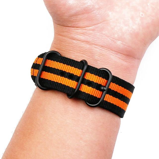 Watch accessories Nylon watch belt NATO thickening soft Waterproof and sweat-proof not stab hands 24 MM Men Women's watch belt 4