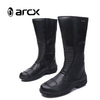 ARCX Motorcycle Boots Motocross Rider Shoes Genuine Leather Wearable Waterproof Motorbike Shoes Touring Riding Boots L60621