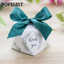 New Diamond shape Green leaves forest style Candy Box Wedding Favors And Gifts Party Supplies thank you Gift Box 100pcs - DISCOUNT ITEM  29% OFF All Category