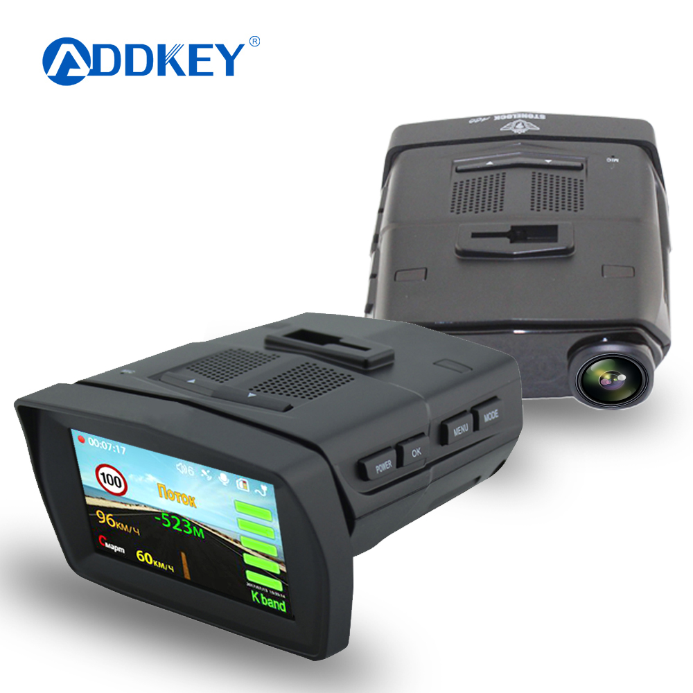 ADDKEY 3 in 1 Video Recorder Car DVR Camera Radar Detector GPS video recorder night vision 170 Degree dash cam Registrar dvrs