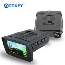 ADDKEY 3 в 1 видео регистратор Автомобильный dvr камера радар-детектор gps видео регистратор ночного видения 170 градусов регистратор dvrs