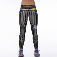 NEW 88004 Girl Women Comics Batman Superhero Metallic mesh 3D Prints High Waist Running Fitness Sport