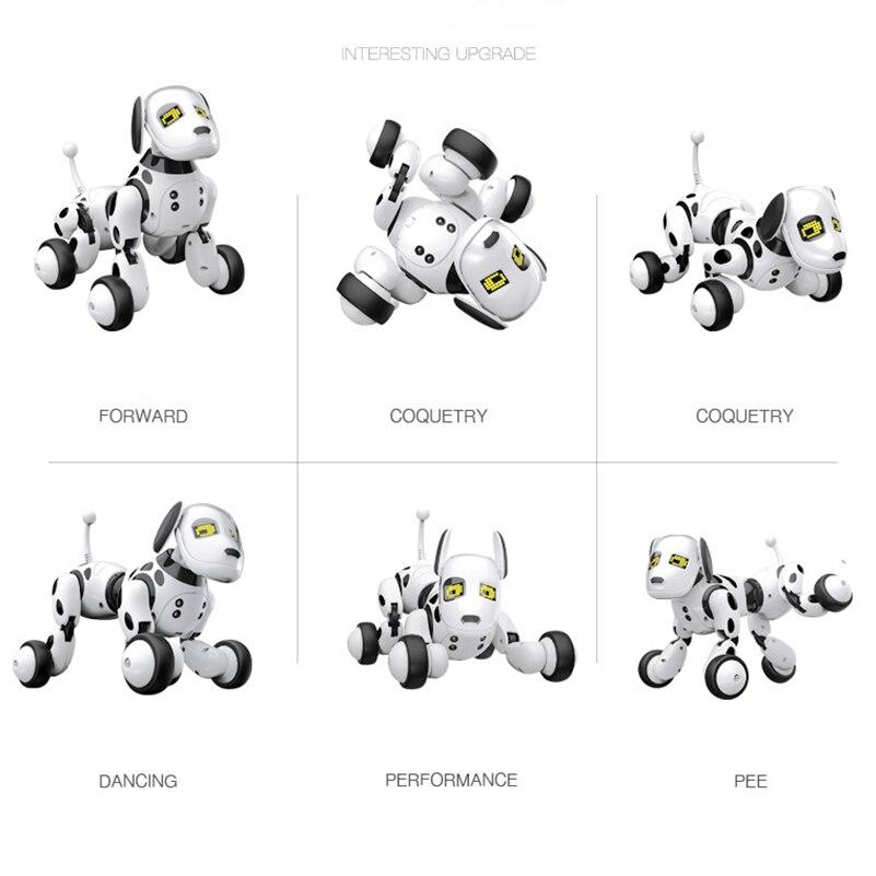 Nouveaux animaux de compagnie électroniques RC Robot chiens se tiennent à pied mignon interactif Intelligent chien Robot jouet Intelligent sans fil jouets électriques pour les enfants - 5