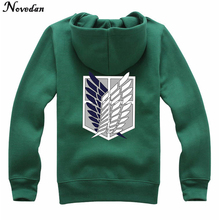 Novedan Anime Attack On Titan Cosplay Costumes Hoodie Green Black Scouting Legion Hooded Jacket For Women Men