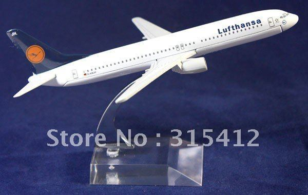 Free Shipping!!NEW 16CM METAL B737 LUFTHANSA AIRLINES PLANE MODEL ,AIRPLANE MODEL,passenger plane model,Christmas gift