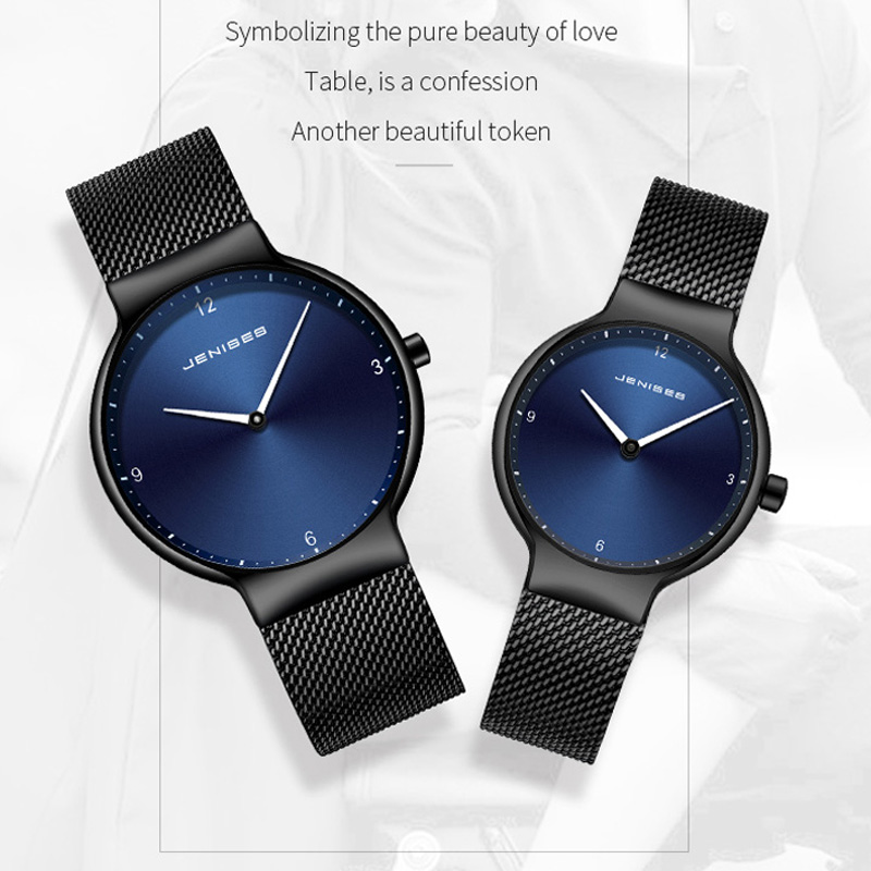 Fashion Simple Geneva Lovers Watches Brand Luxury Mesh Belt Quartz Wristwatch Ladies Dress Watch Clock Lady Gift Couple Watch